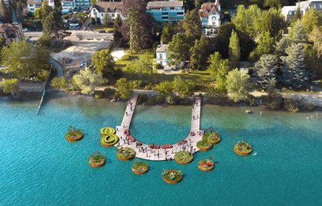 Schwimmende Gärten im Ausstellungsbereich Villengärten. Bild: DREISEITLconsulting